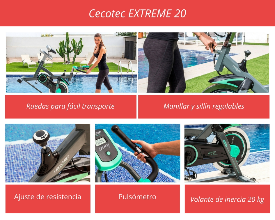 Propiedades de la bici fija Cecotec Extreme 20