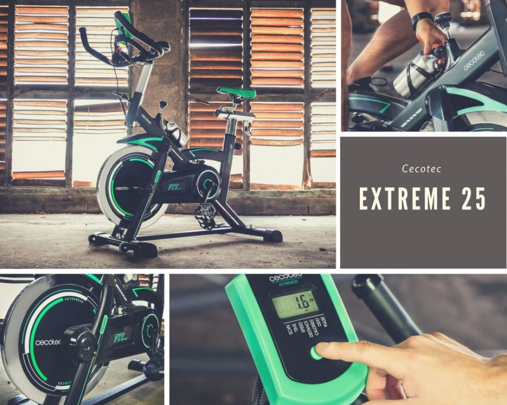 Diseño y funciones de la bicicleta estática Cecotec Extreme 25