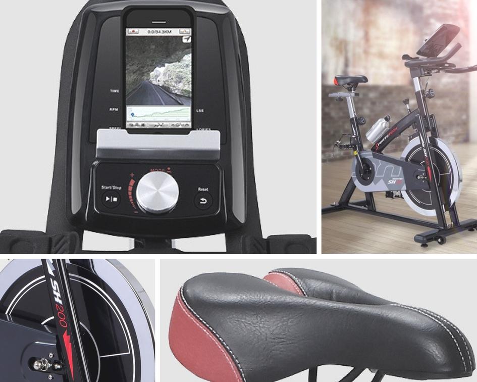 Diseño de la bicicleta de spinning Sportstech SX200